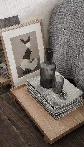 fermLiving Ripple Carafe smoked grey